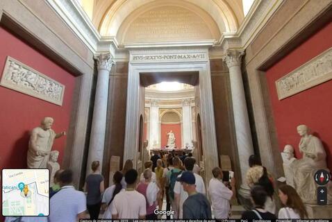 Museo del Vaticano desde Google Maps.